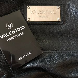 Valentino Milano black leather backpack